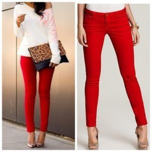 GJG Red Skinny Jeans size 1 (25)